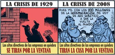 2 CRISES FINANCEIRAS, 2 FORMAS DE ACTUAR